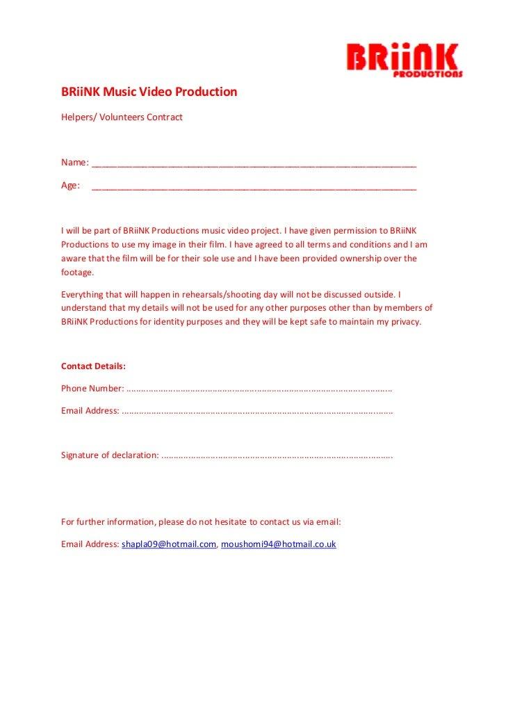 4.2 Volunteer/Helper Contract