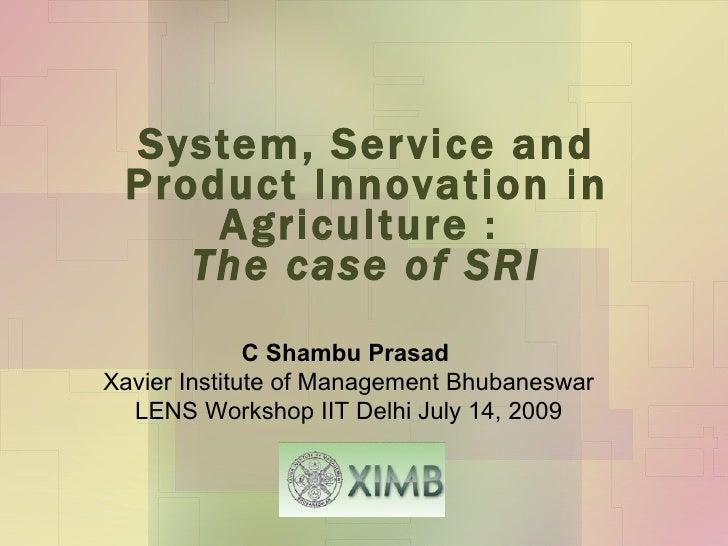 4.2 System of Rice Intensification (SRI)