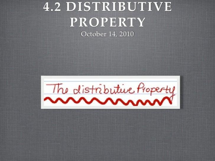 4.2 the distributive property