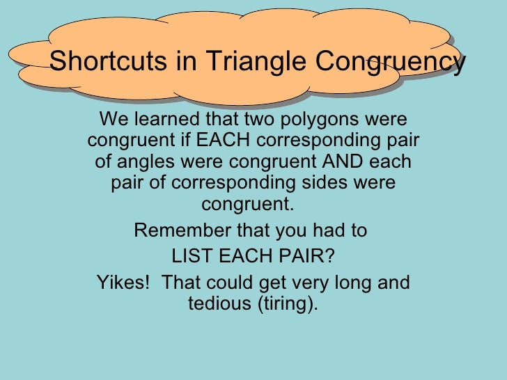 Review on Triangle Congruency