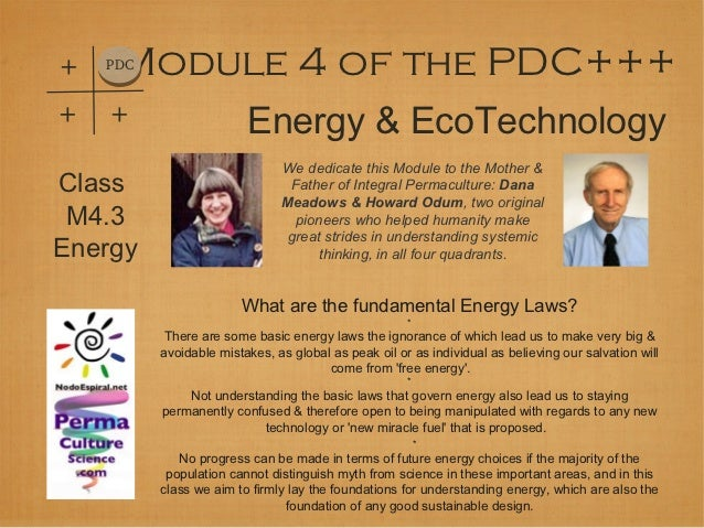 +    Module 4 of the PDC+++    PDC+   +                    Energy & EcoTechnology                               We dedicat...