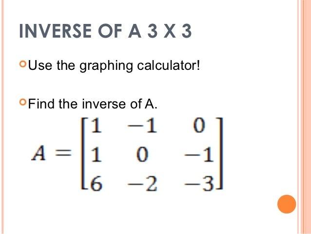 how to find inverse of a matrix in scientific calculator