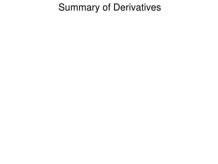 4.4 review on derivatives