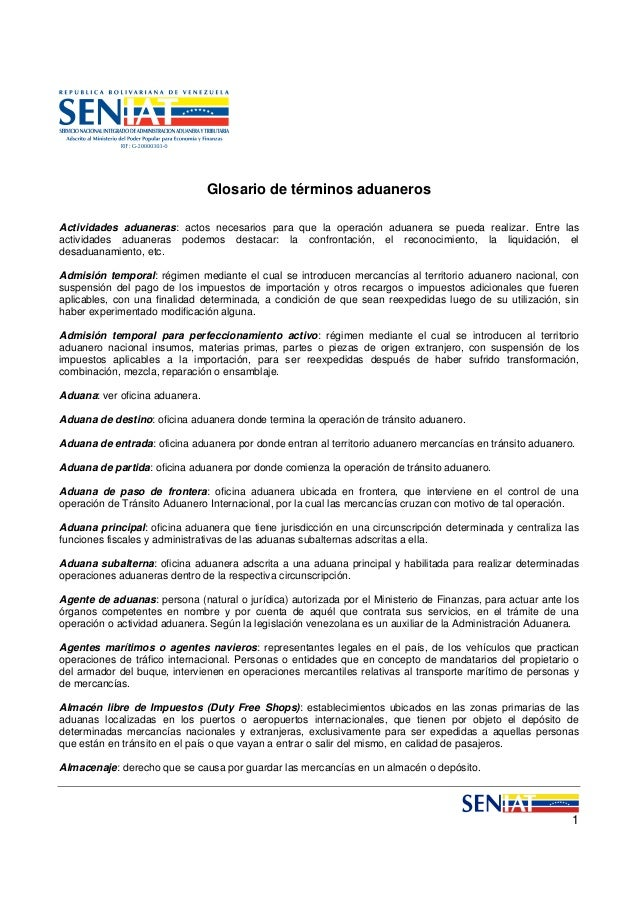 4.6 glosario aduanas