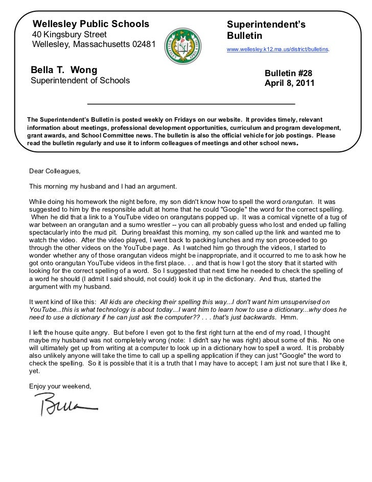 Superintendent's Bulletin4-8-11