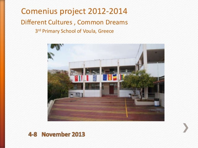 Comenius project 2012-2014 Different Cultures , Common Dreams 3rd Primary School of Voula, Greece