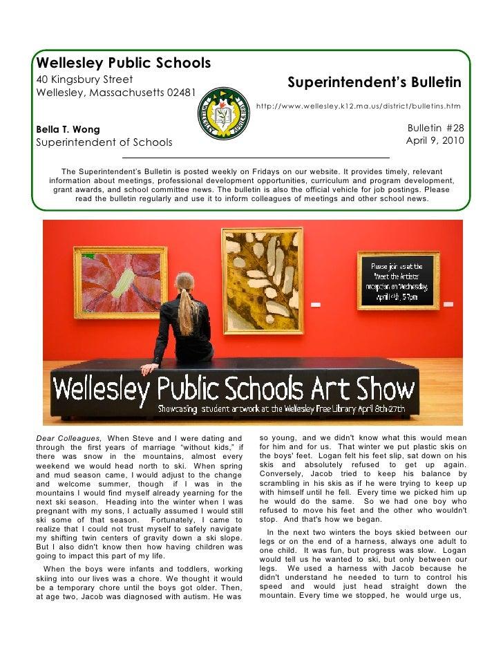 Superindent's Bulletin 4-09-10