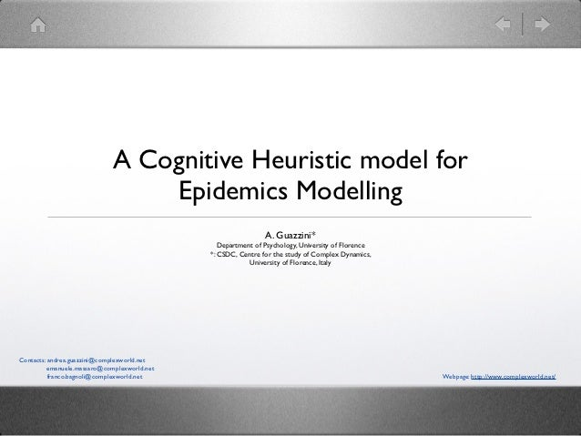 A Cognitive Heuristic model for                                  Epidemics Modelling                                      ...