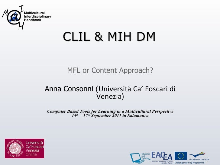 Anna Consonni - CLIL & MIH Digital Modules