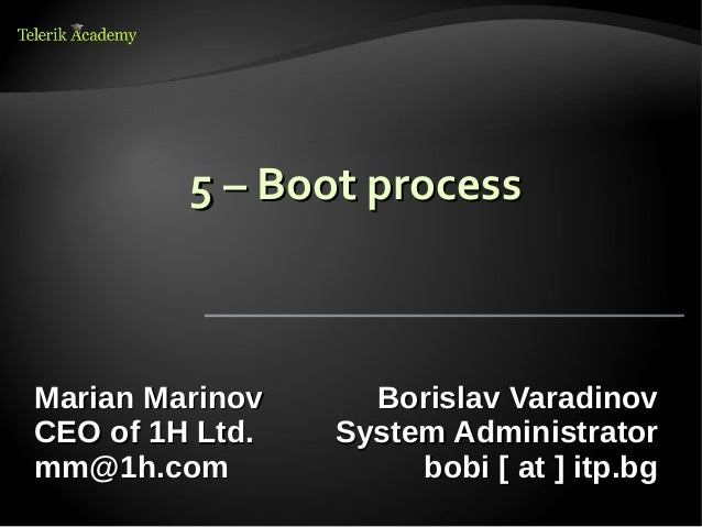 5. boot process