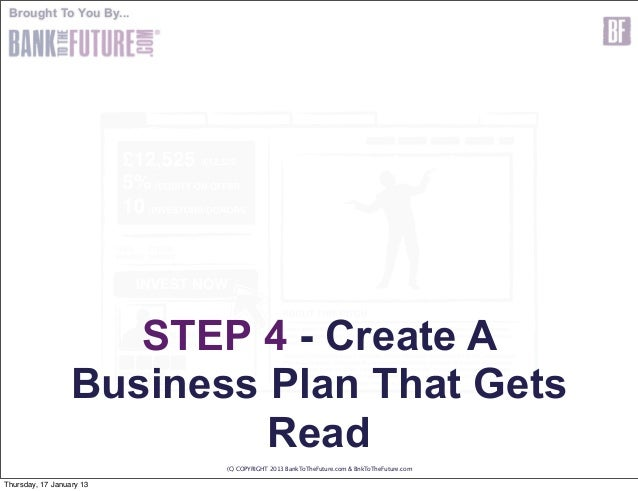 How to make a business plan for investors