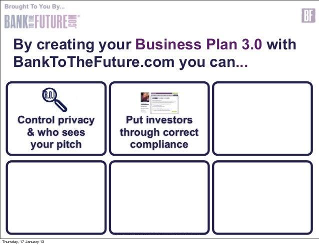 Business plan for investors