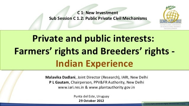 C 1: New Investment         Sub Session C 1.2: Public Private Civil Mechanisms    Private and public interests:    Private...