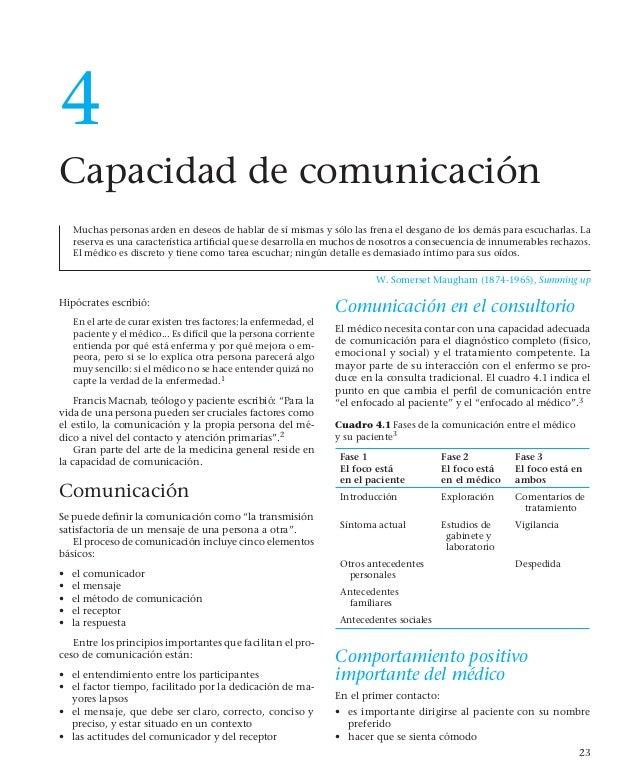 4            Capacidad de comunicación                Muchas personas arden en deseos de hablar de sí mismas y sólo las fr...