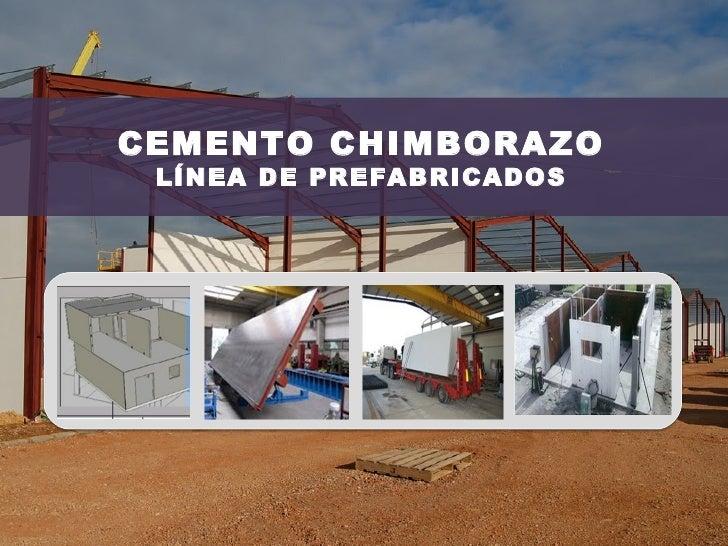 CEMENTO CHIMBORAZO LÍNEA DE PREFABRICADOS