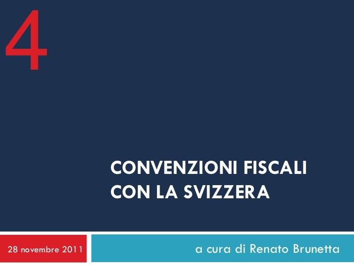 Convenzioni fiscali Svizzera