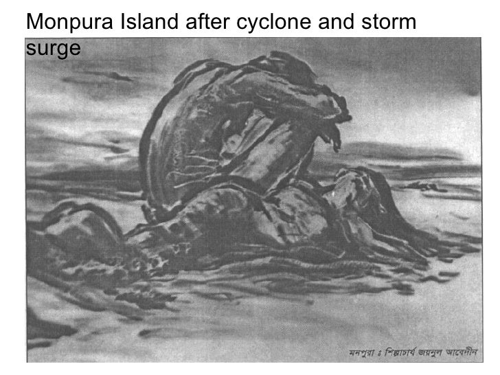 Monpura Island after cyclone and storm surge