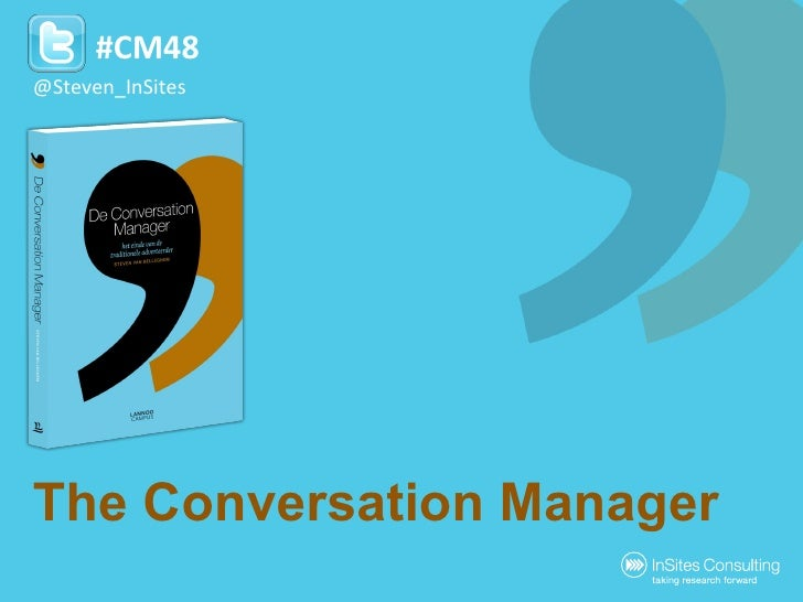 The Conversation Manager by Steven Van Belleghem @Steven_InSites #CM48