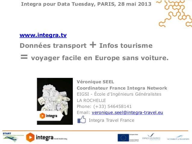 Integra pour Data Tuesday, PARIS, 28 mai 2013Véronique SEELCoordinateur France Integra NetworkEIGSI - École dIngénieurs Gé...