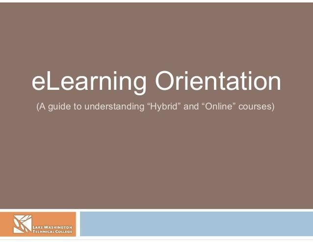 LWIT BTAD: eLearning Orientation