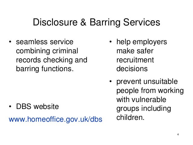 the new disclosure and barring service safer recruiting