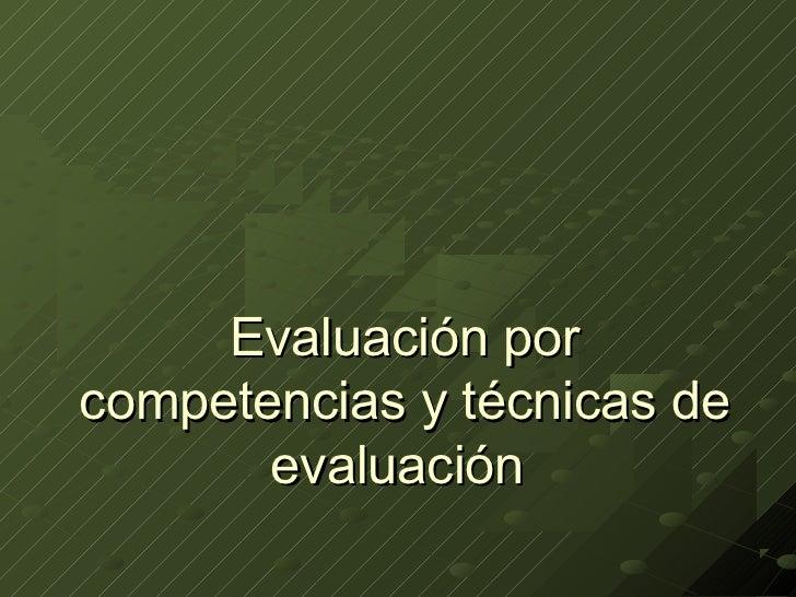 Evaluacionx competencias
