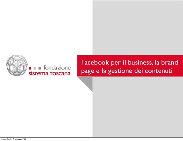 Facebook per il business
