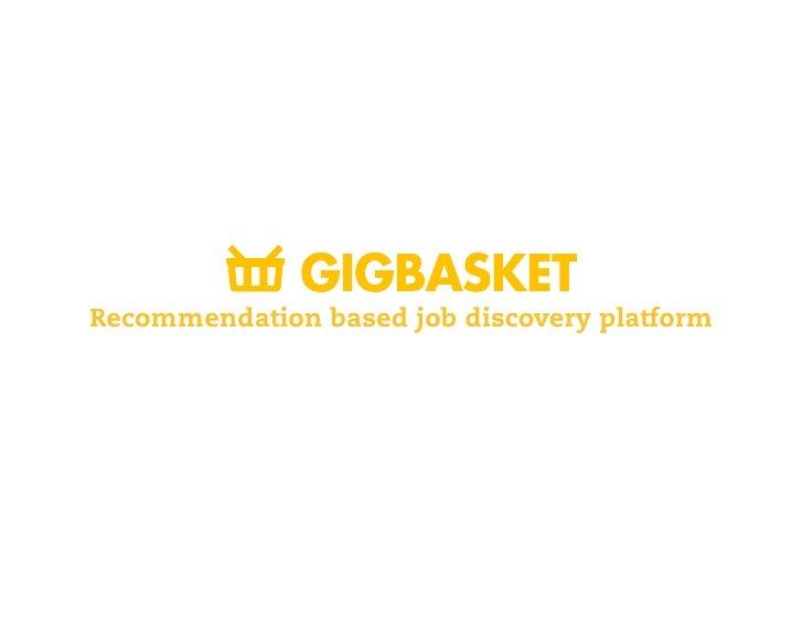 Recommendation based job discovery platform