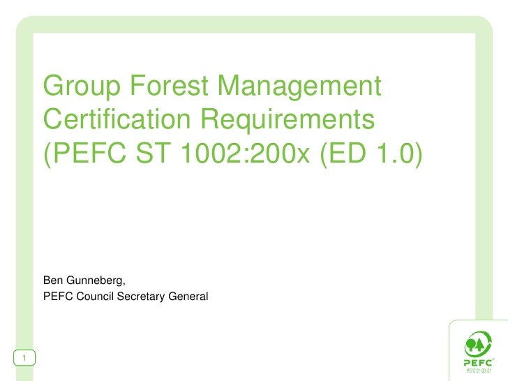 Group Forest Management Certification Requirements