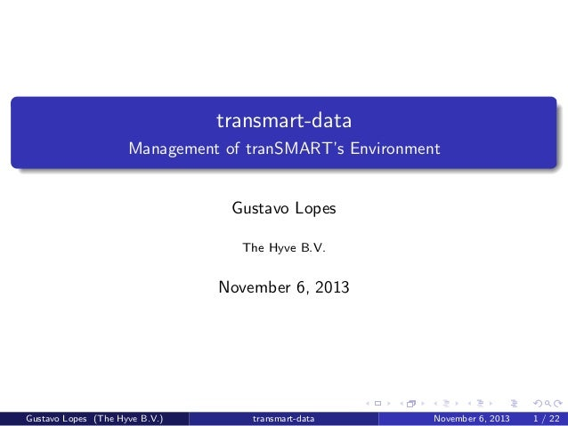 tranSMART Community Meeting 5-7 Nov 13 - Session 3: transmart-data