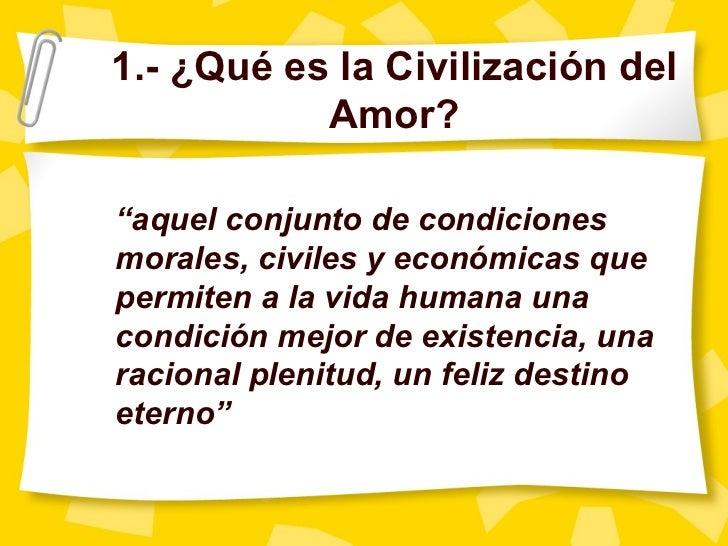 Resultado de imagen para civilización del amor