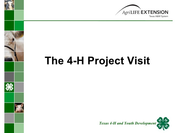 The 4-H Project Visit Texas 4-H and Youth Development