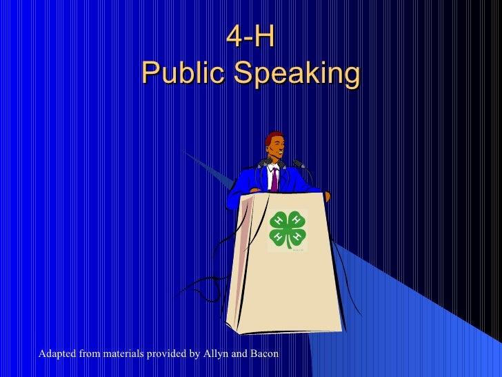 4 h public speaking