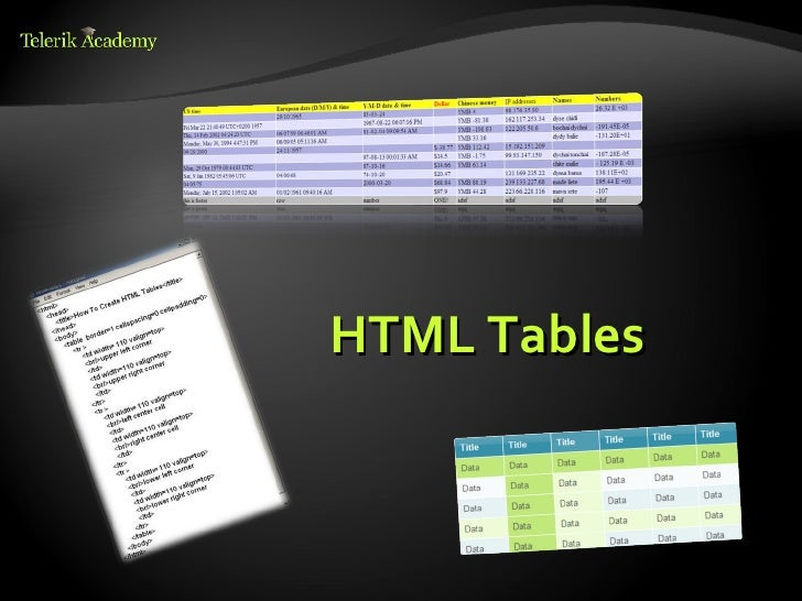 Html 5 tables and forms for Html form table