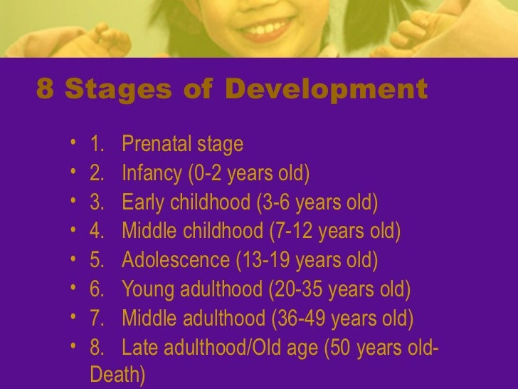 Physical development of infancy