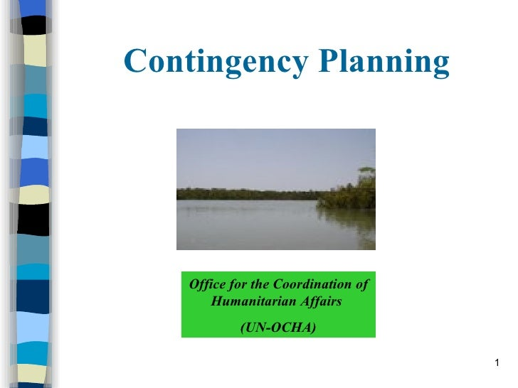 Contingency Planning Office for the Coordination of Humanitarian Affairs  (UN-OCHA)