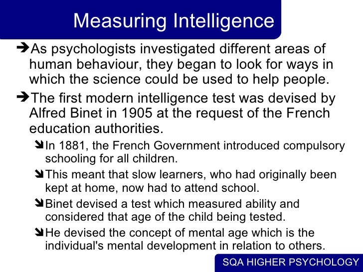 an introduction to the testing of iq intelligence quotient