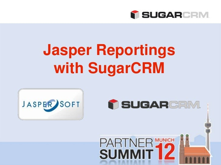 Jasper Reportings with SugarCRM