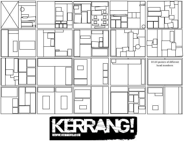 4. Kerrang! Flat Plan of Whole Magazine