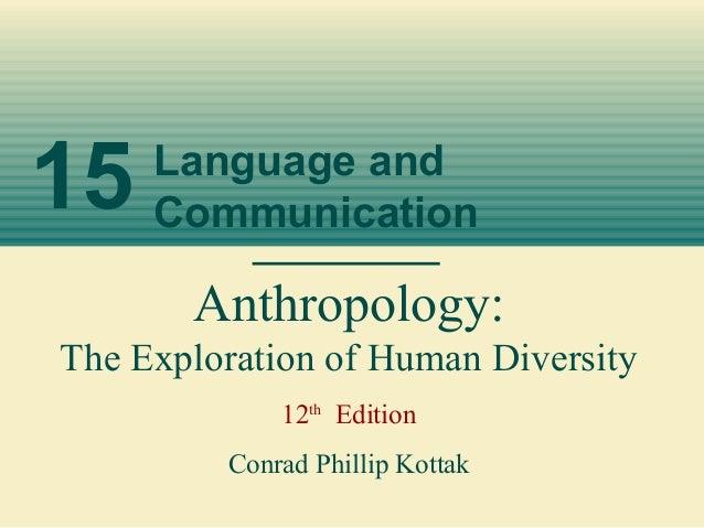15 Language andCommunicationAnthropology:The Exploration of Human Diversity12thEditionConrad Phillip Kottak