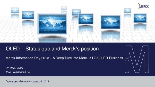 OLED and Merck's respective position (A Deep Dive into Merck's LC & OLED Business)