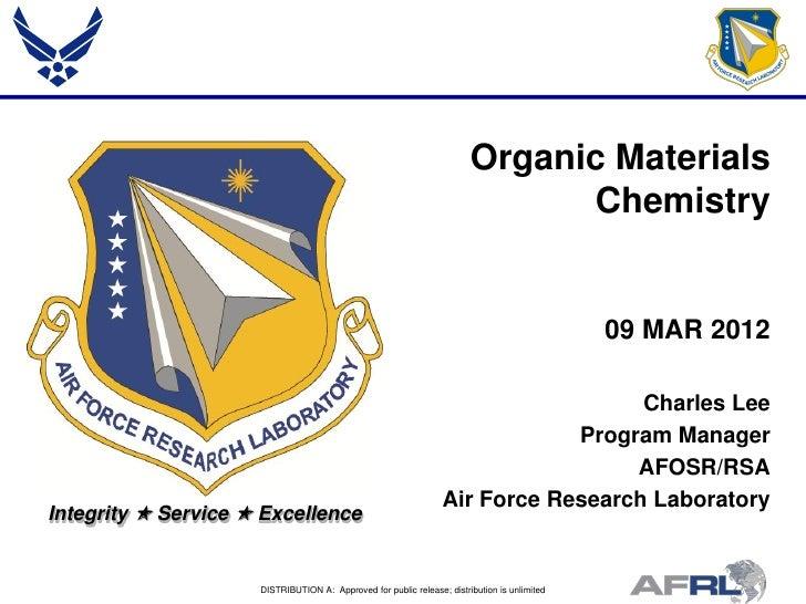 Organic Materials                                                                              Chemistry                  ...