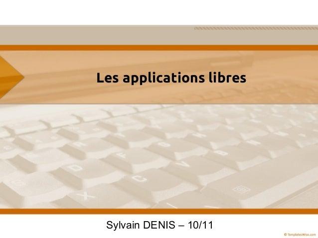 Les Applications Libres