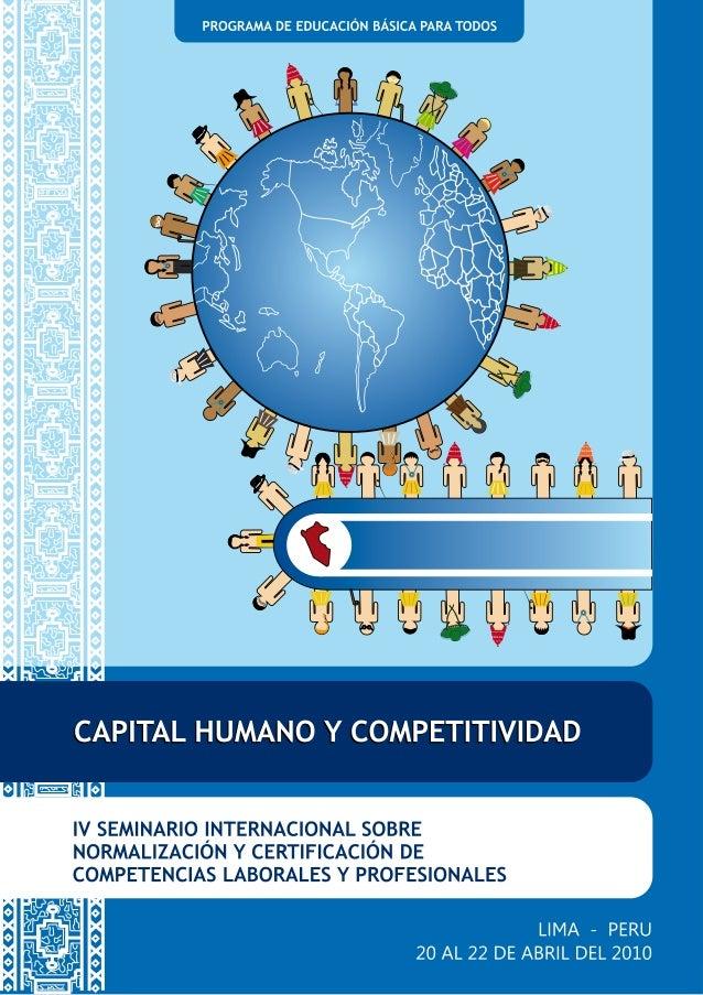 IV Seminario Internacional sobre Normalización y Certificación de Competencias Laborales y Profesionales 1