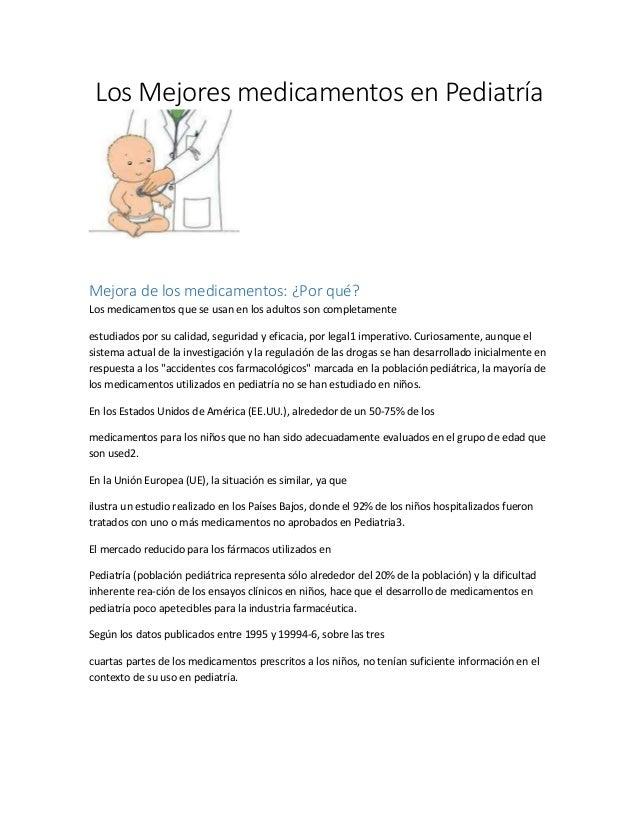 4 los mejores medicamentos en pediatría-