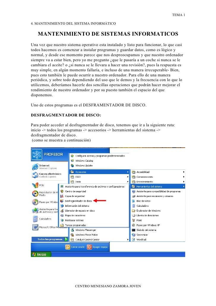 4. Mantenimiento Del Sistema Informatico