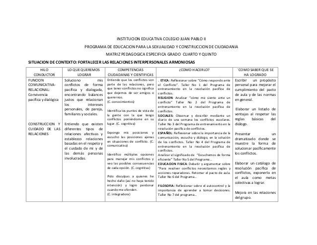 4. matriz pedagogica grado 4 y 5