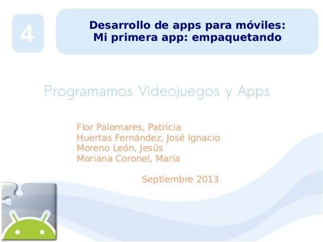 Desarrollo de Apps para móviles 4:  mi primera app III
