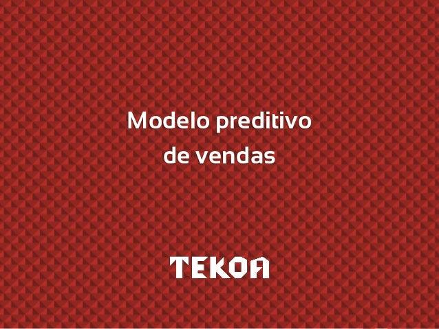 Modelo preditivo de vendas