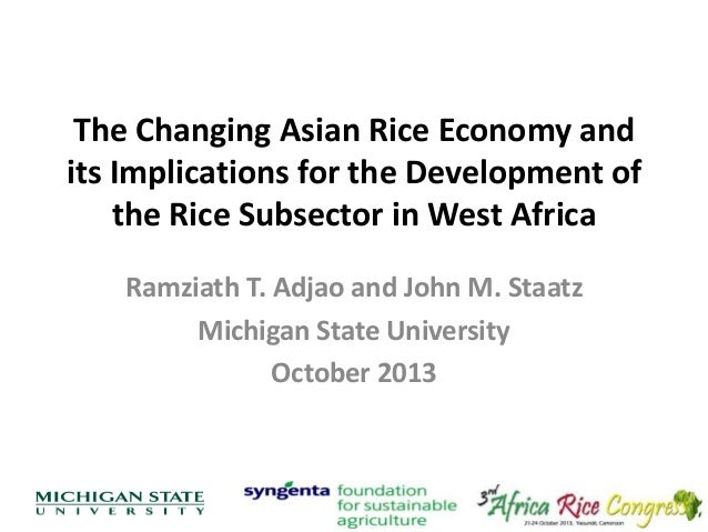 Th4_The Changing Asian Rice Economy and its Implications for the Development of the Rice Subsector in West Africa
